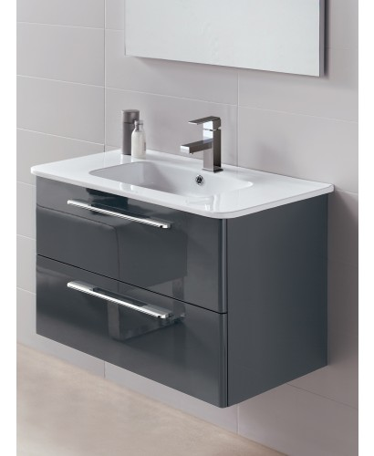 Luxury Coast Designer Grey Gloss Bathroom Furniture Collection  Main Image