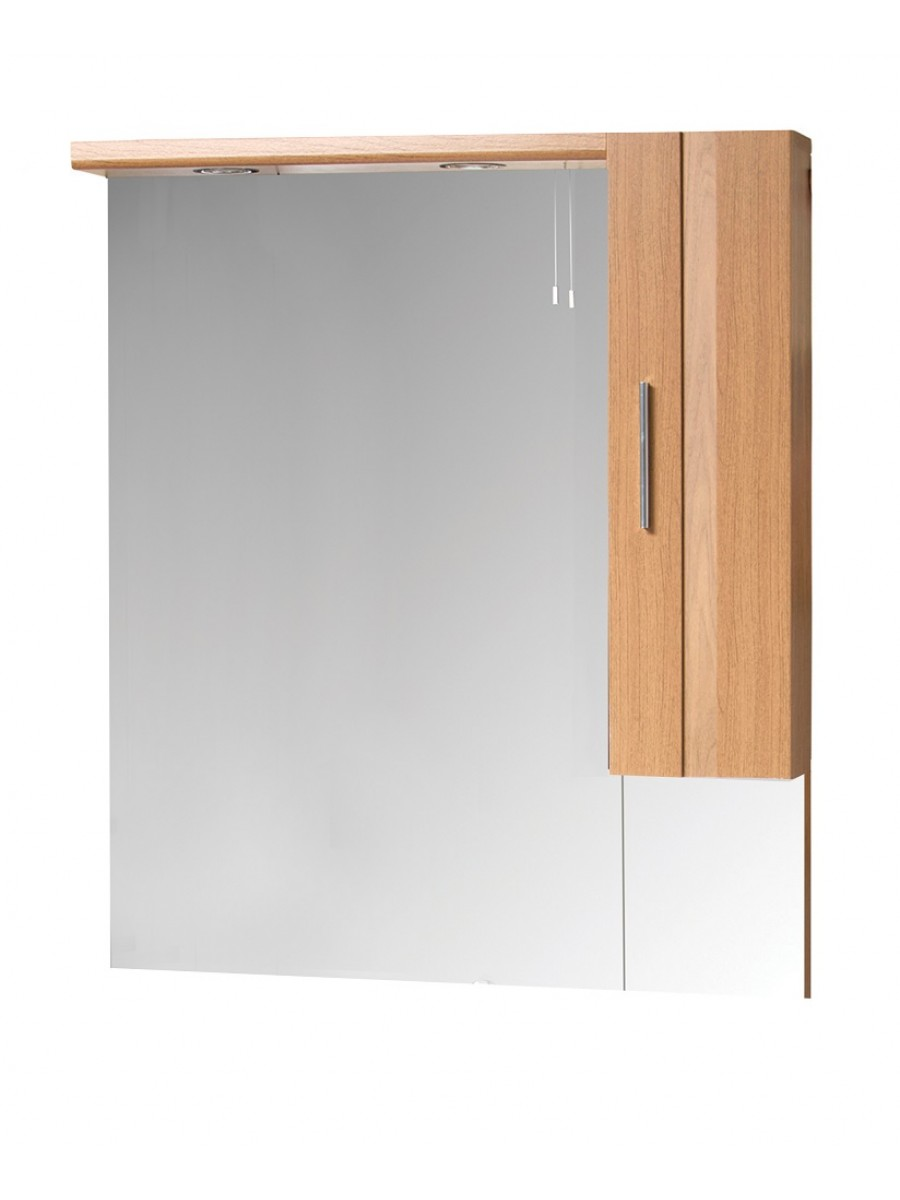 oslo walnut 70cm mirror mirrors cabinets bathroom