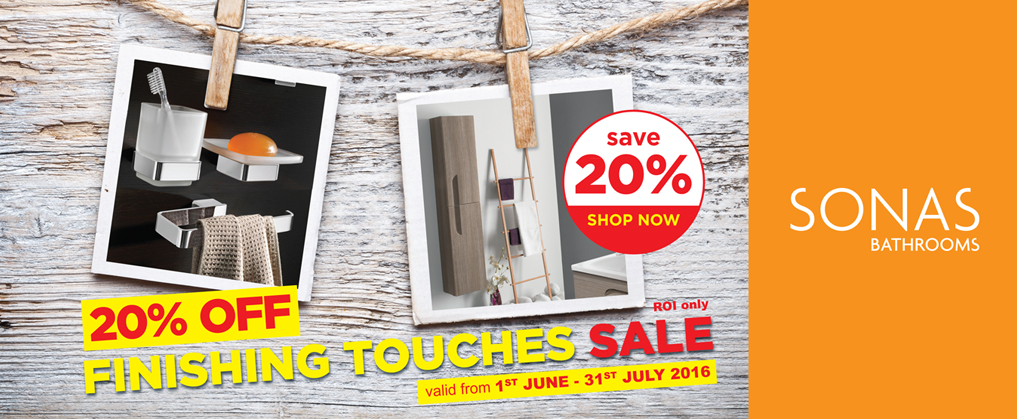 Finishing Touches Sale - 20% Off