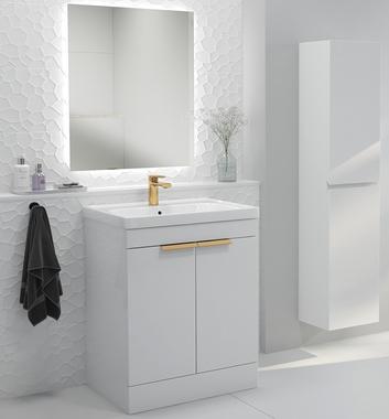 Stockholm Floor Standing Gloss White