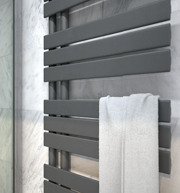 Straight Anthracite Heated Towel Rails