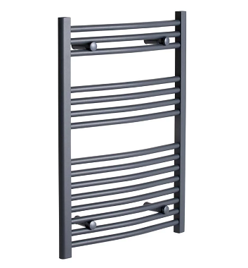 Curved Anthracite Heated Towel Rail
