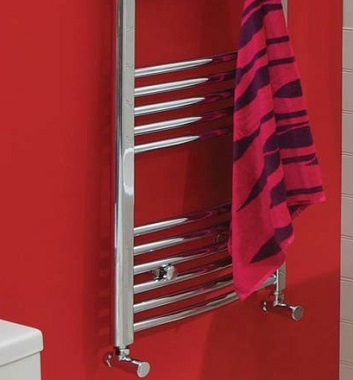 Curved Chrome Heated Towel Rails