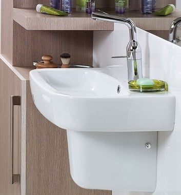 Wash Basin with Semi Pedestal