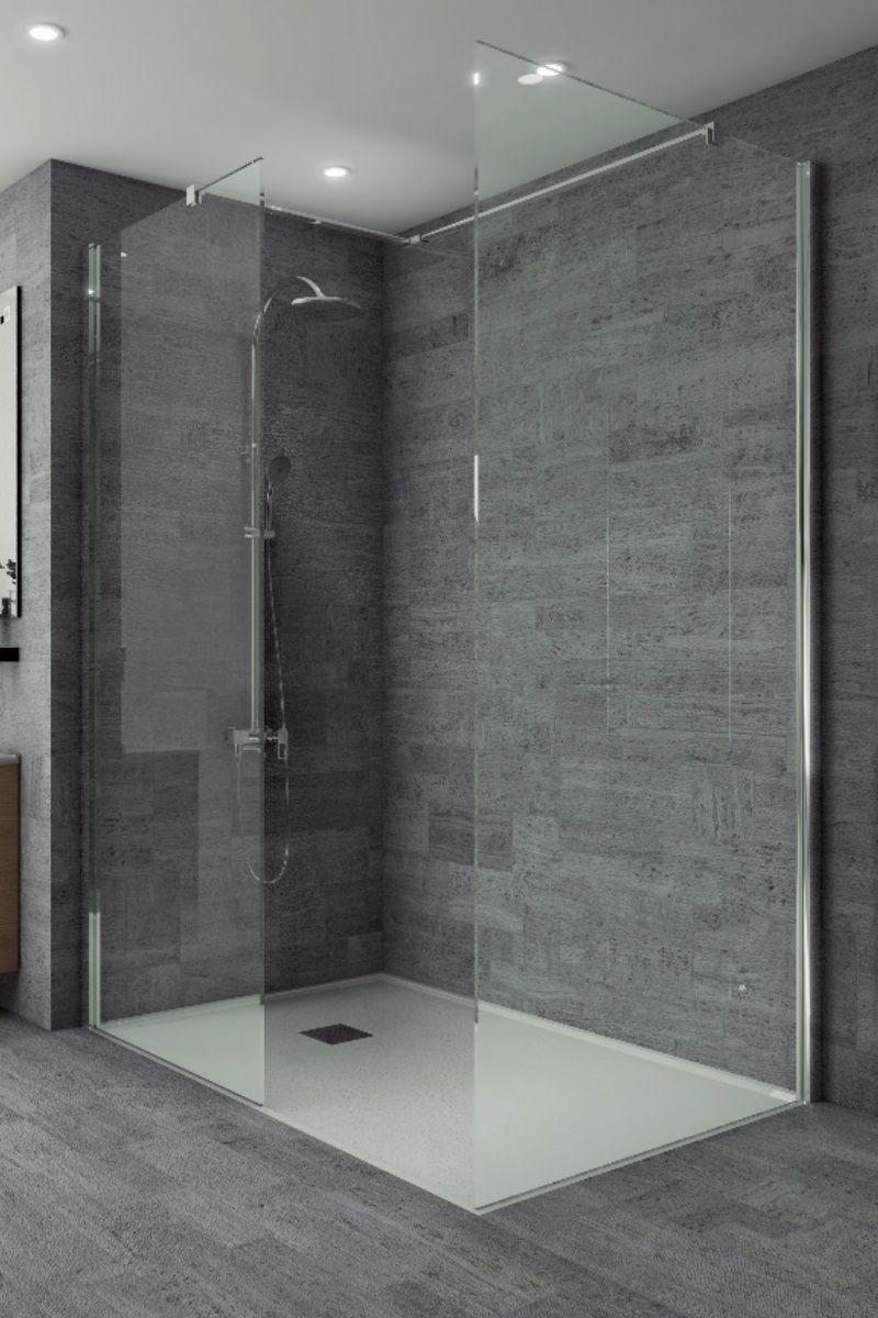 Studio 8mm Wetroom Side Panel 900