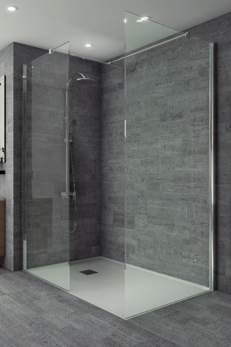 Studio 8mm Wetroom Front Panel 900