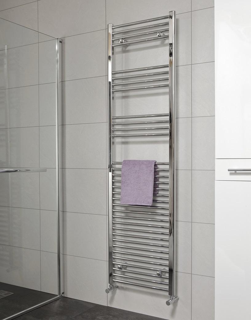 Sonas 1800 x 500 Straight Towel Rail - Chrome