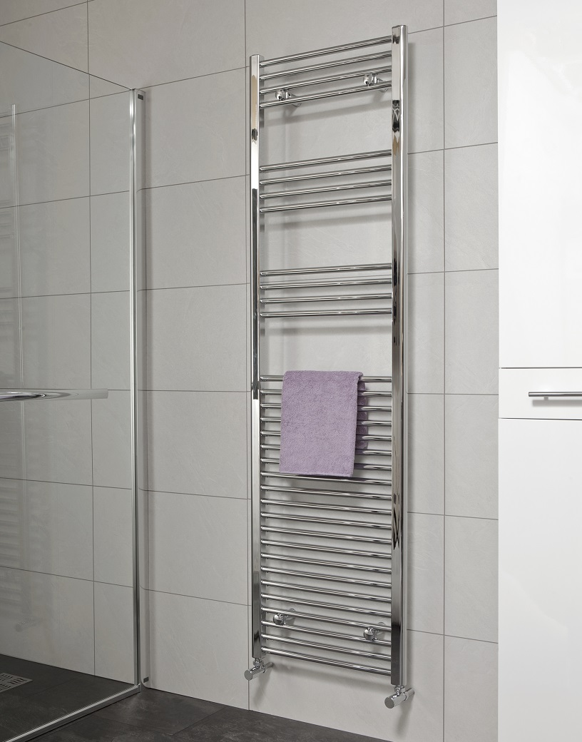 Sonas 1800 x 600 Straight Towel Rail - Chrome