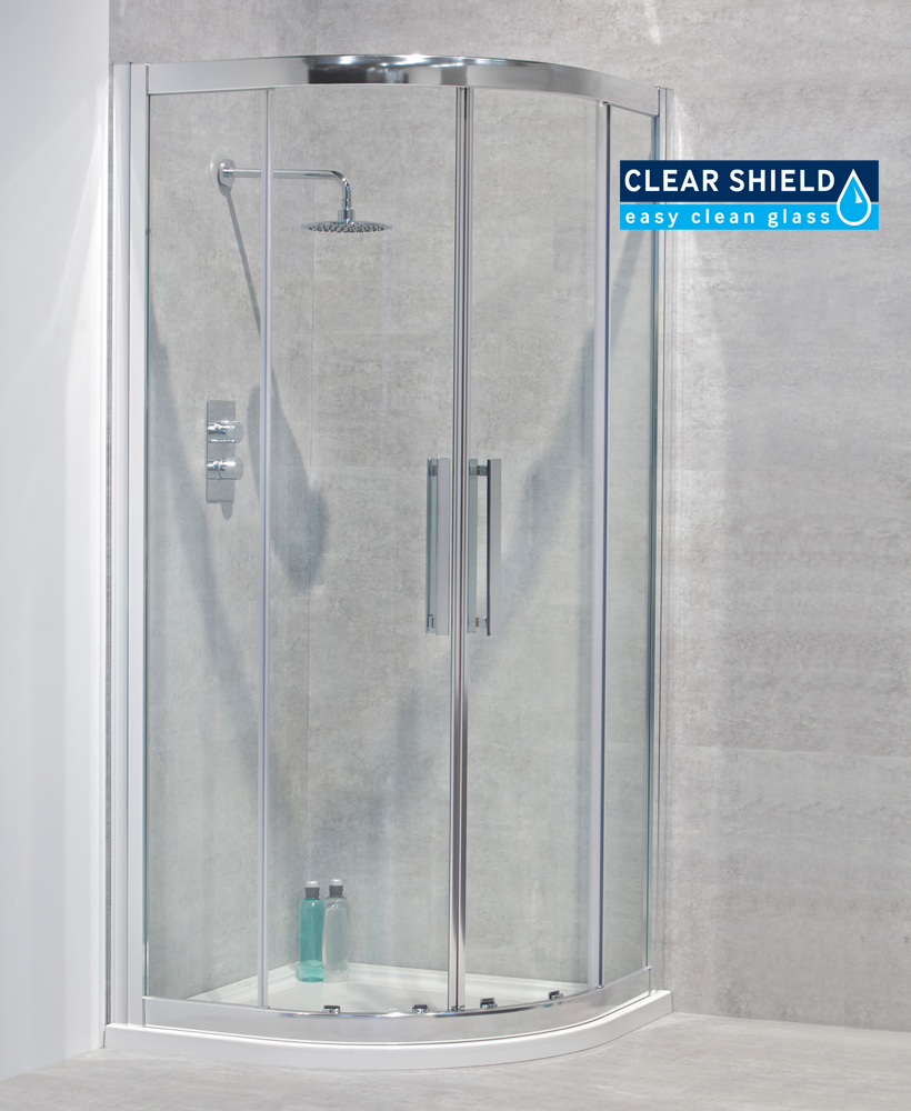 Aktive 8mm 900 Quadrant Shower Door - Adjustment 850-890mm