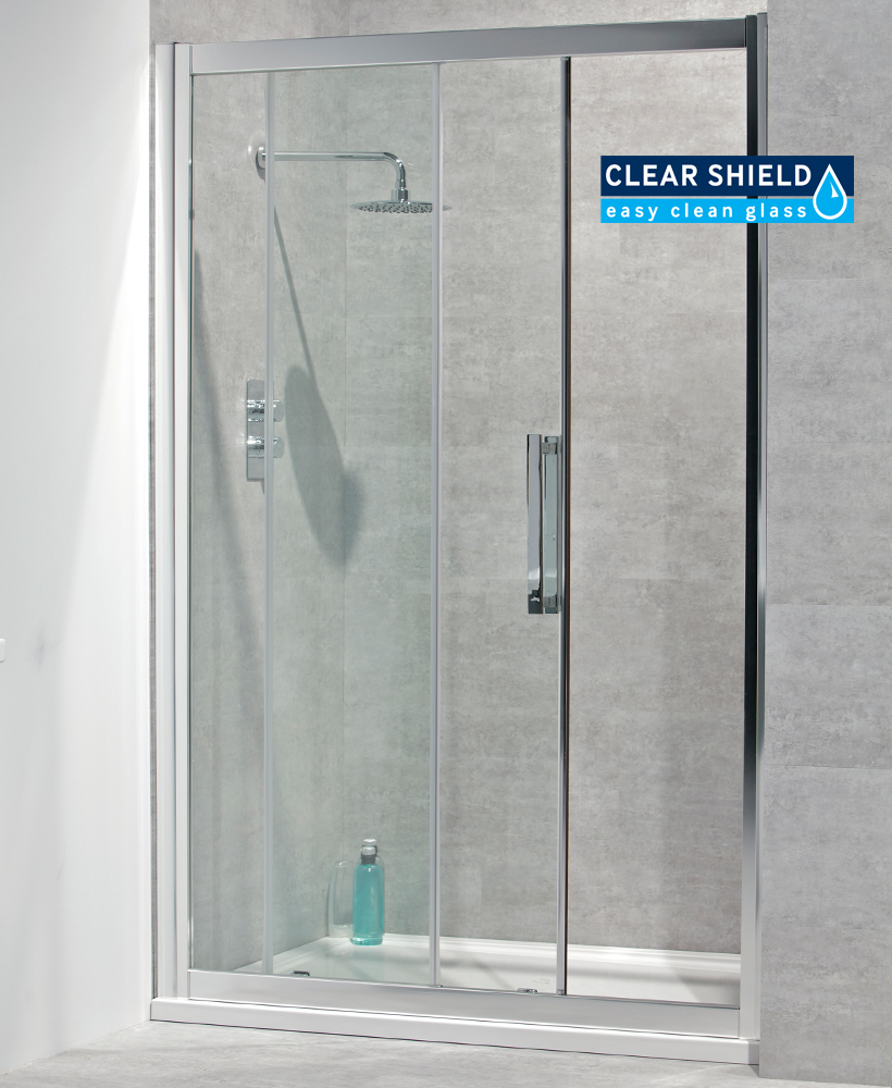 Aktive 8mm 1300 Sliding Shower Door - Adjustment 1240-1300mm