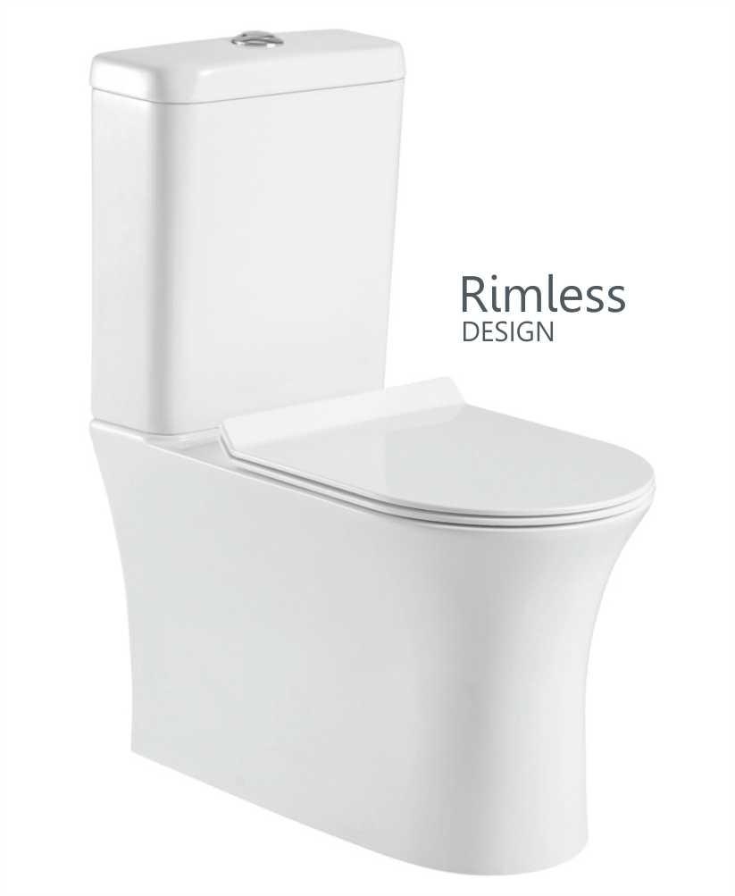 Amanda Fully Shrouded Close Coupled Rimless WC with Soft Closing ...