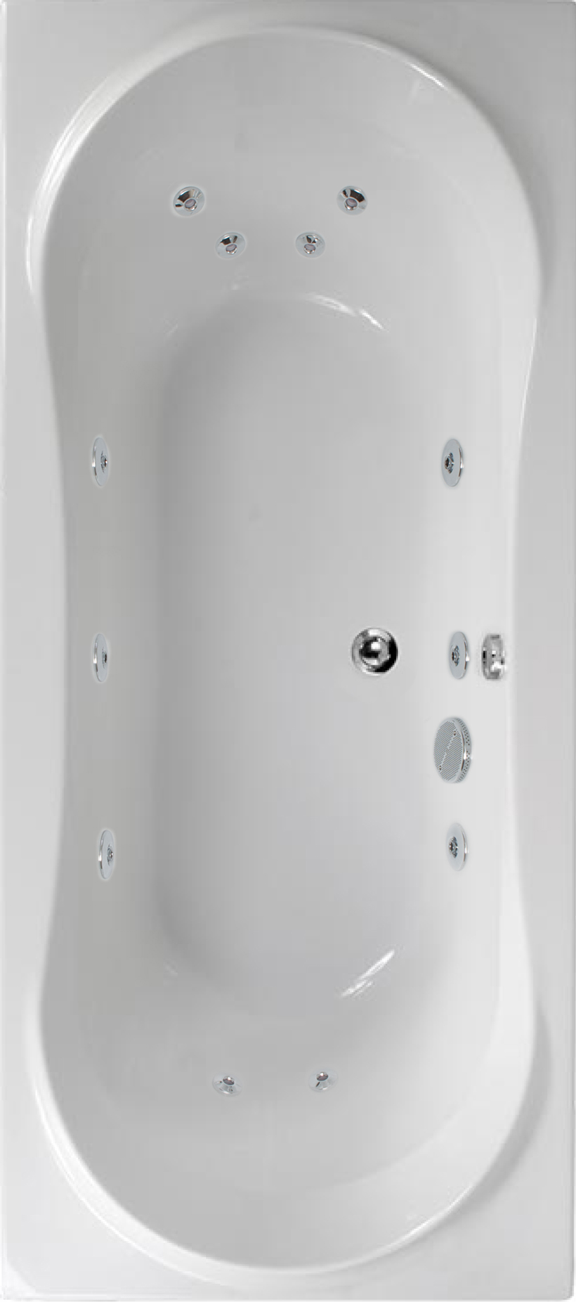 Apollo 1800x800 Double Ended 12 Jet Whirlpool Bath