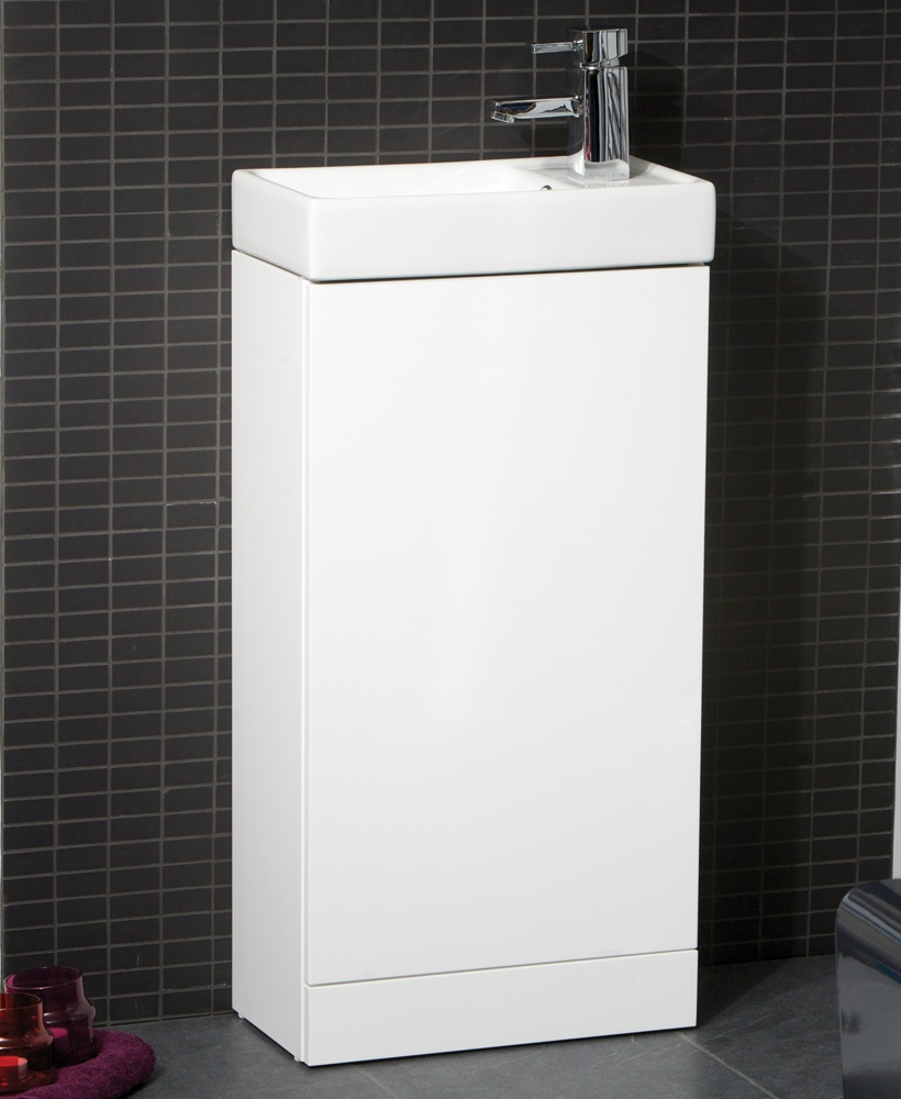 Basle 40cm White Floor Standing Unit.