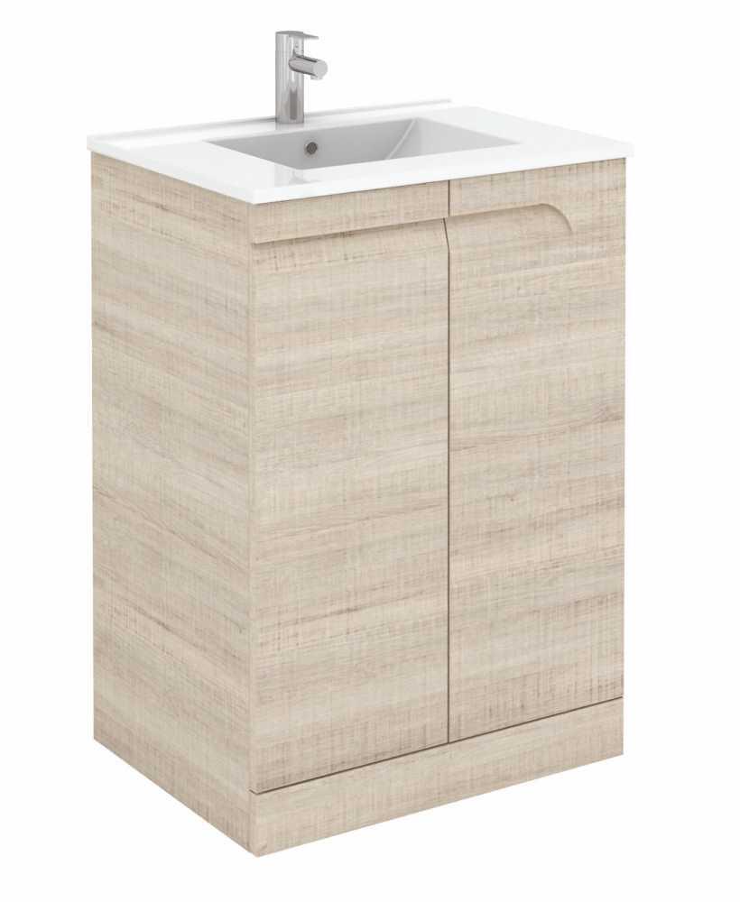 Brava 60 Maple Floor Standing Vanity Unit and SLIM Basin