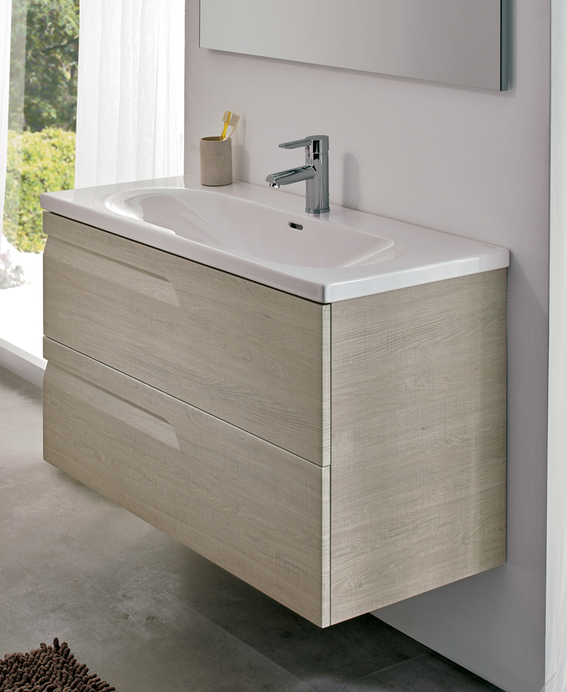 Brava Maple 80cm Vanity Unit 2 Drawer and Idea Basin