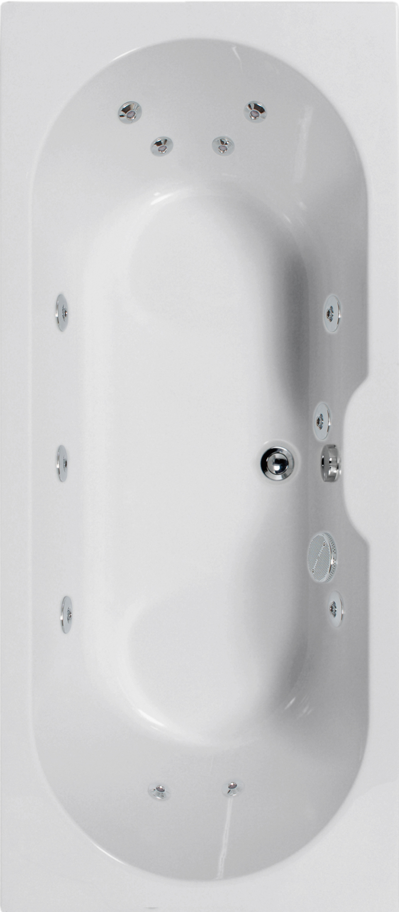 Calisto 1700x700 Double Ended 12 Jet Whirlpool Bath