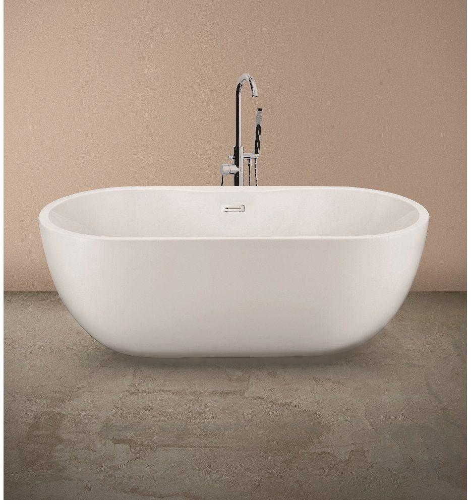 Chloe Freestanding Bath with Tap Ledge  L 1655 W 750 H 580