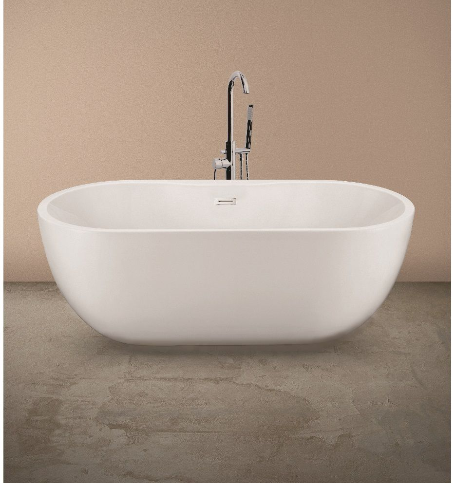 Chloe Freestanding Bath with Tap Ledge  