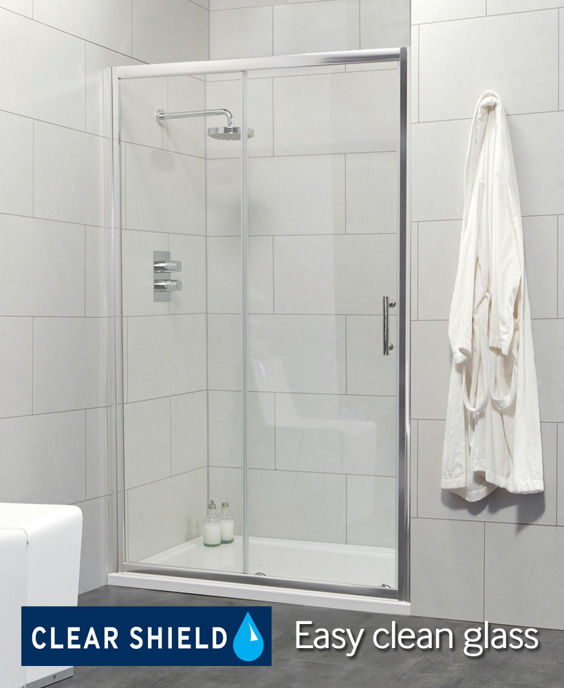 City 1200 Sliding Shower Door -  Adjustment 1140-1190mm