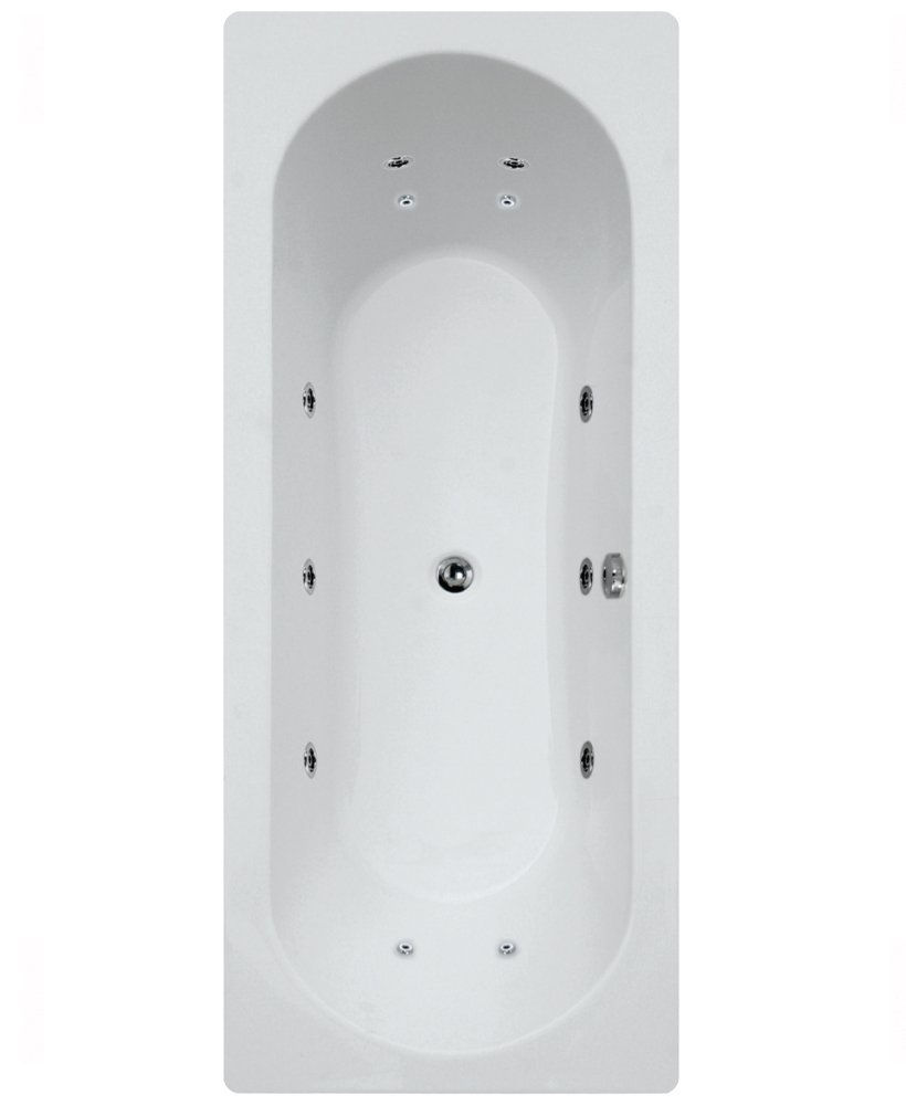 Clover 1800 x 800 Double Ended 12 Jet Whirlpool Bath