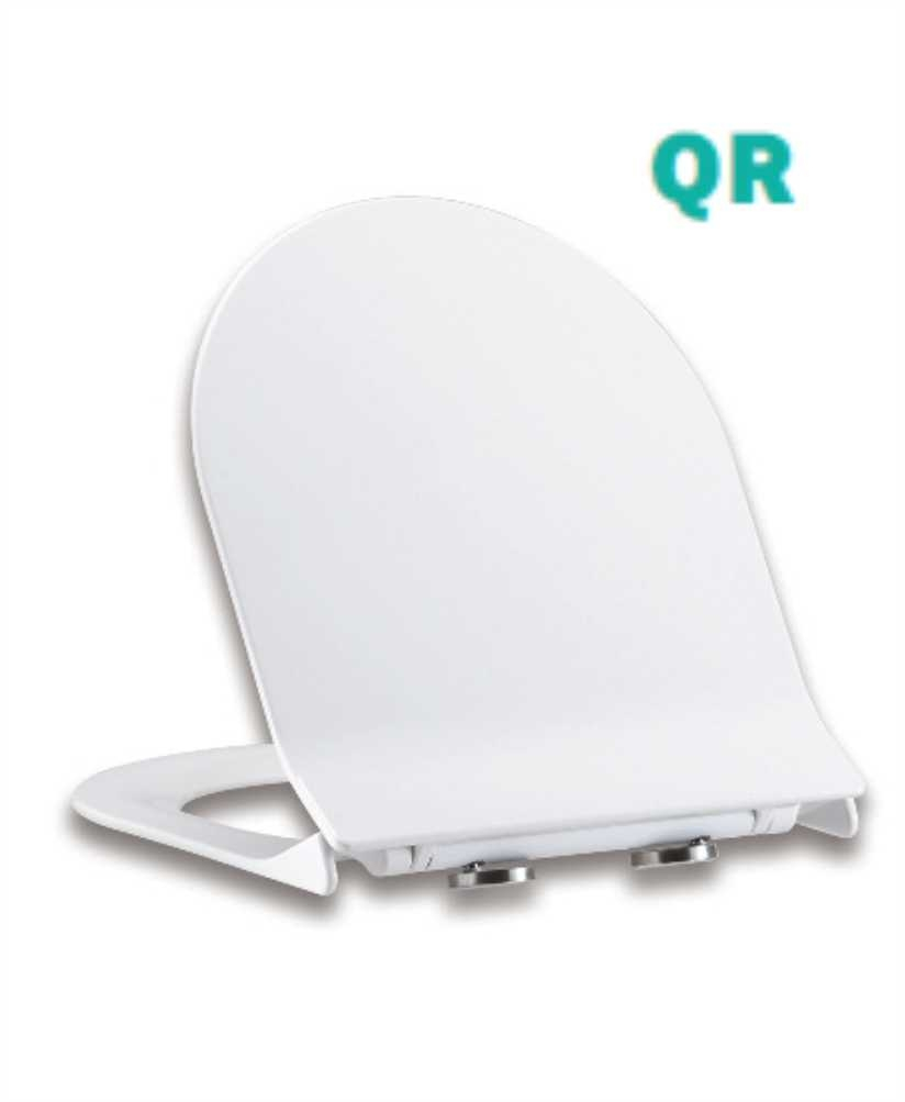 Delta D Shaped Slim Toilet Seat with Soft Close Quick Release