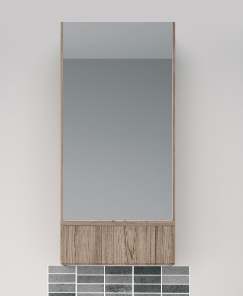 Twyford E100 Grey Ash Mirror Cabinet 418mm