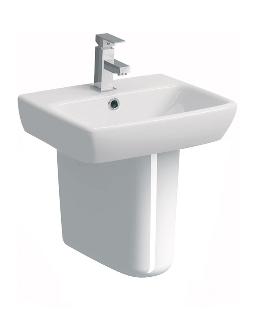 E100 Square 450 Basin & Semi Pedestal