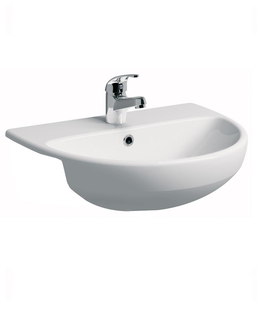 E100 Round 550 Semi recessed basin
