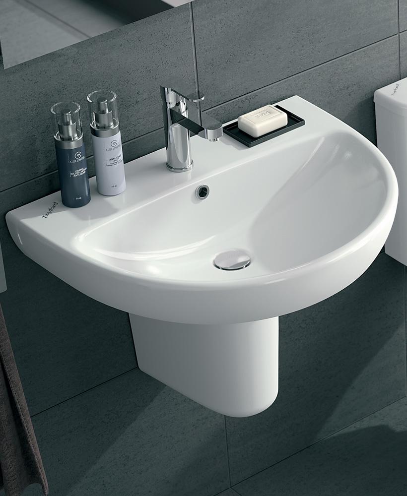 E100 Round 500 Basin & Semi Pedestal