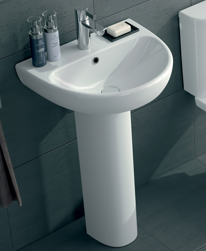 E100 Round 550 Basin & Pedestal