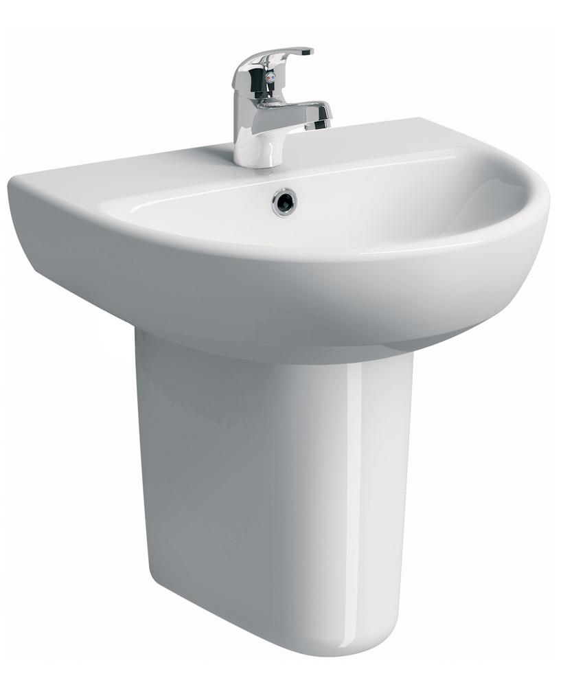 E100 Round 600 Basin & Semi Pedestal
