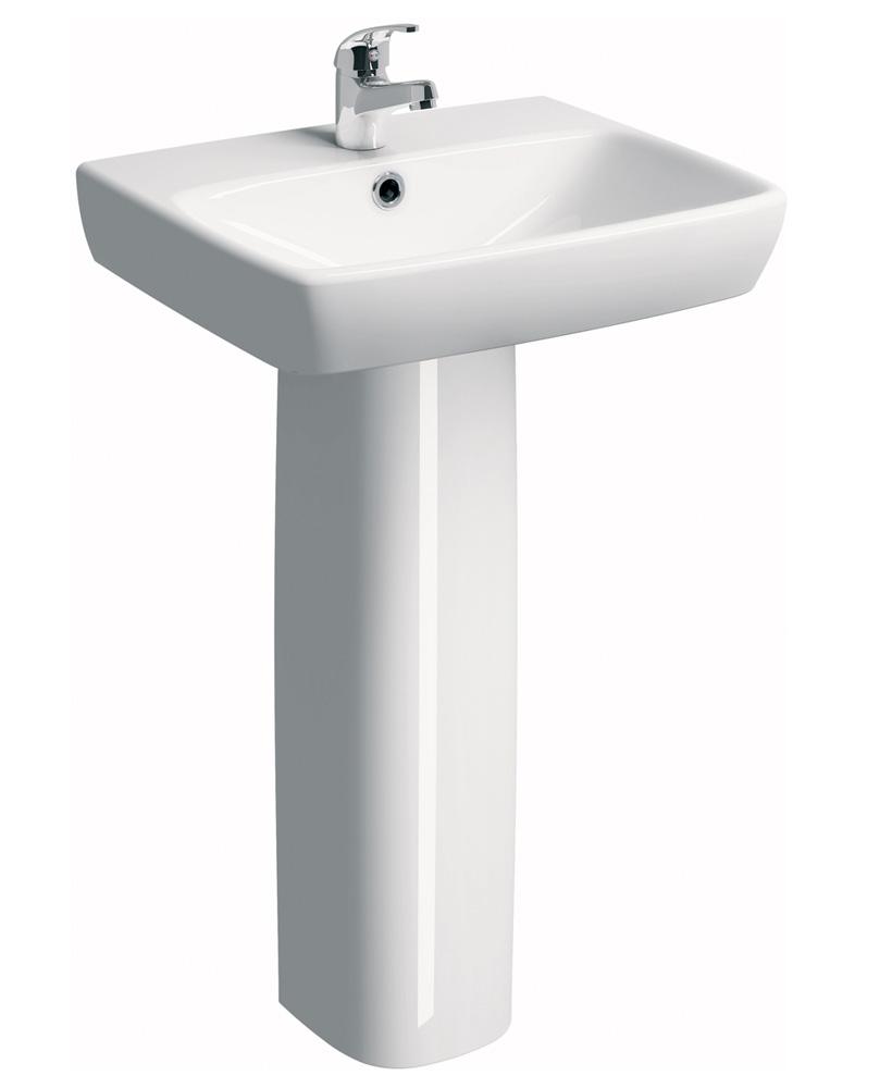 E100 Square 600 Basin & Pedestal