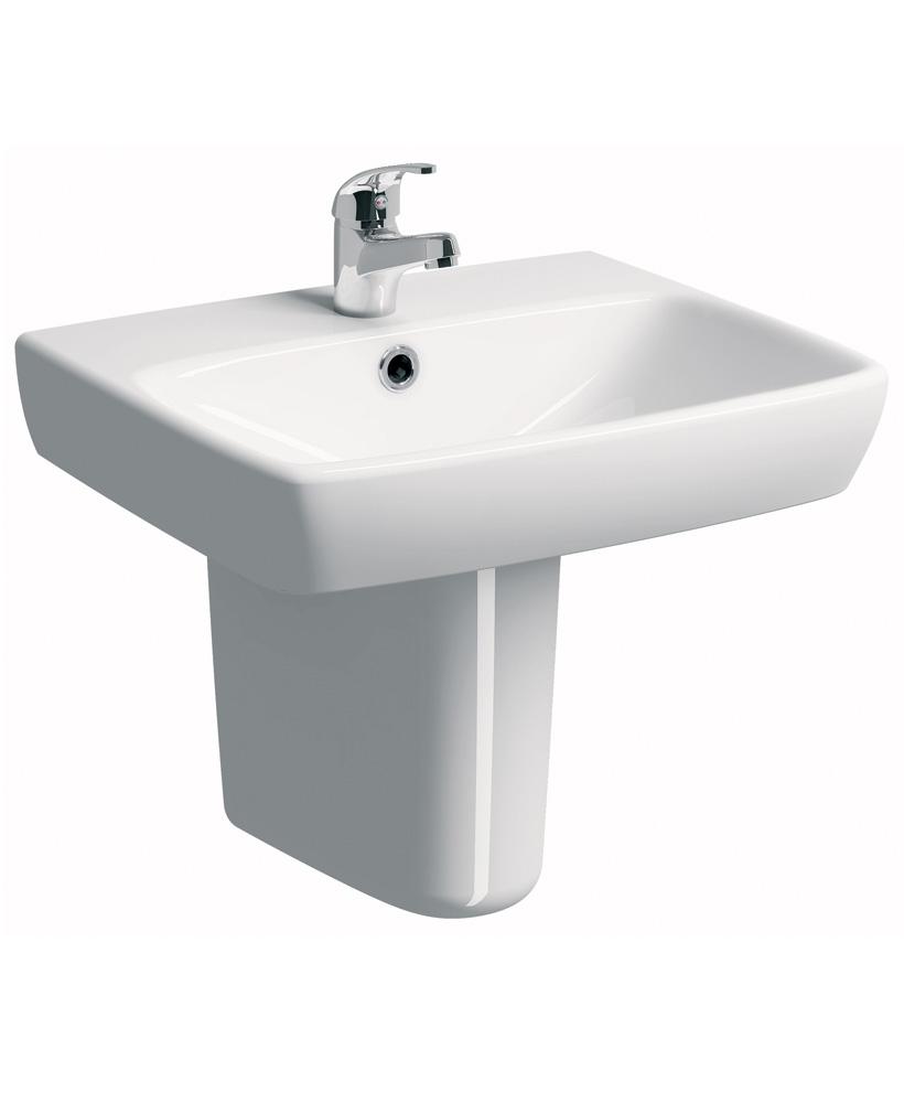 E100 Square 600 Basin & Semi Pedestal