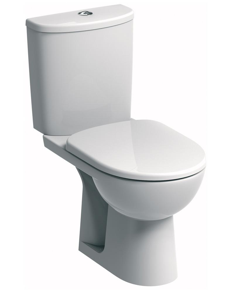 E100 Round Standard Close Coupled Toilet & Standard Seat