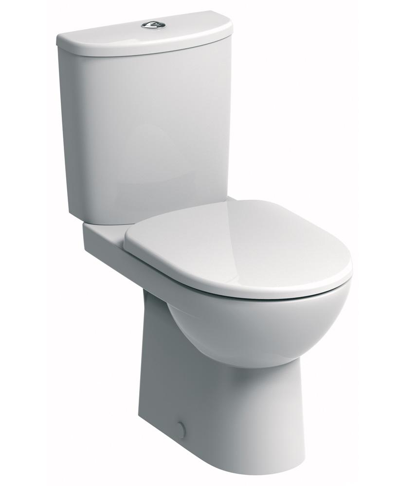 E100 Round Close Coupled Premium Toilet & Soft Close Seat