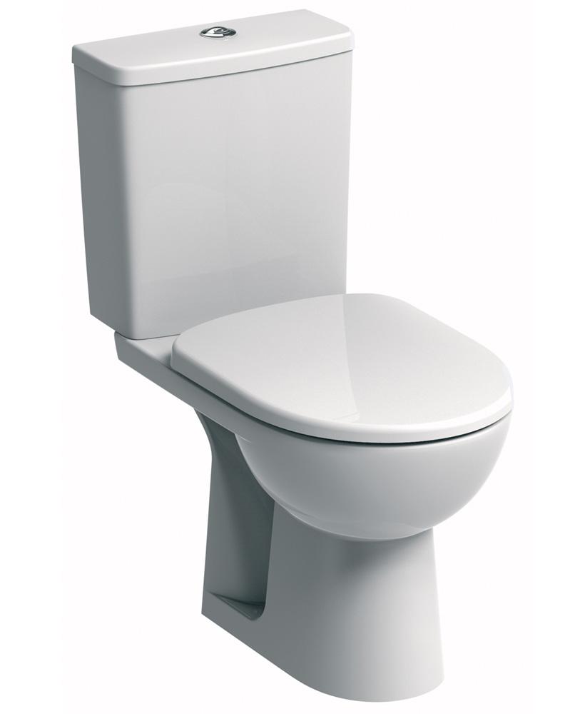 E100 Square Standard Close Coupled Toilet & Standard Seat