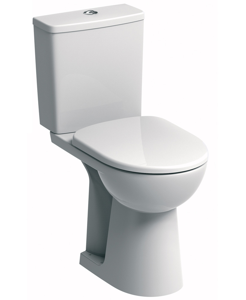 E100 Square Close Coupled Comfort Height Toilet & Soft Close Seat