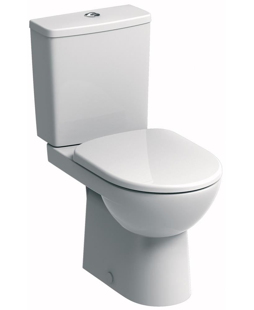 E100 Square Close Coupled Premium Toilet & Standard Seat