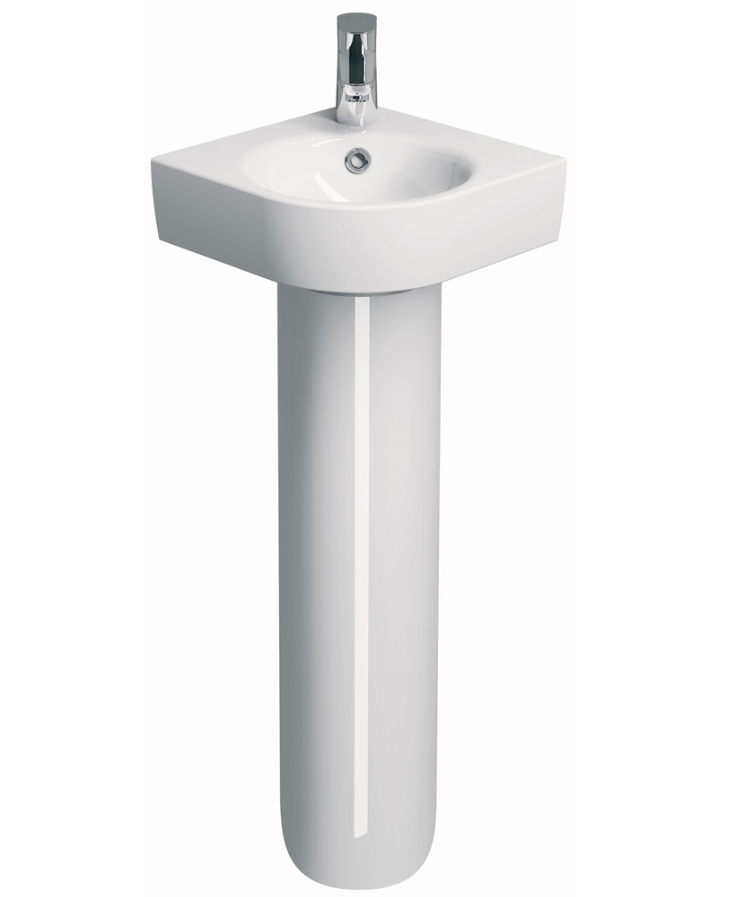 E200 320 Corner Handrinse Basin & Pedestal