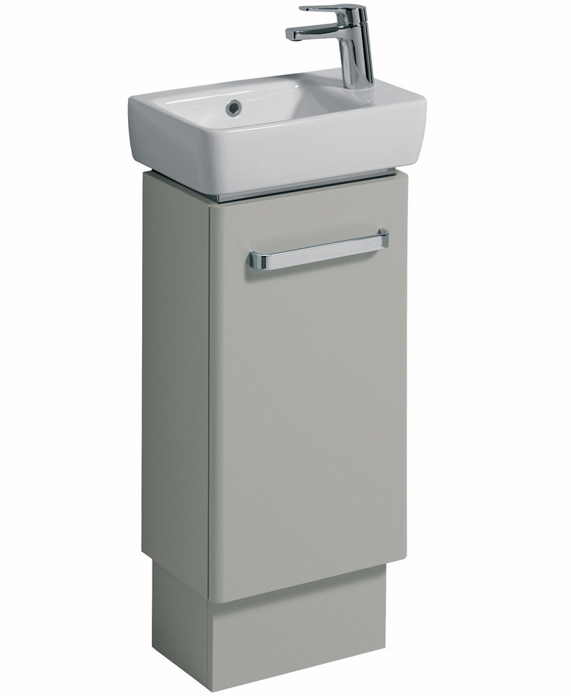 E200 400 Grey Vanity Unit Floor Standing