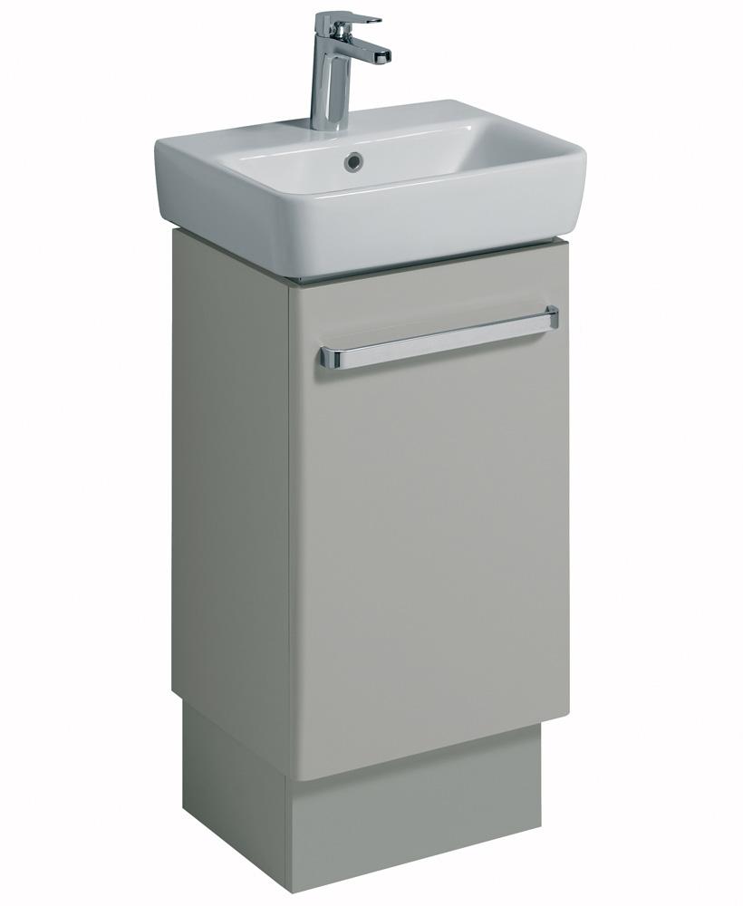 E200 450 Grey Vanity Unit Floor Standing