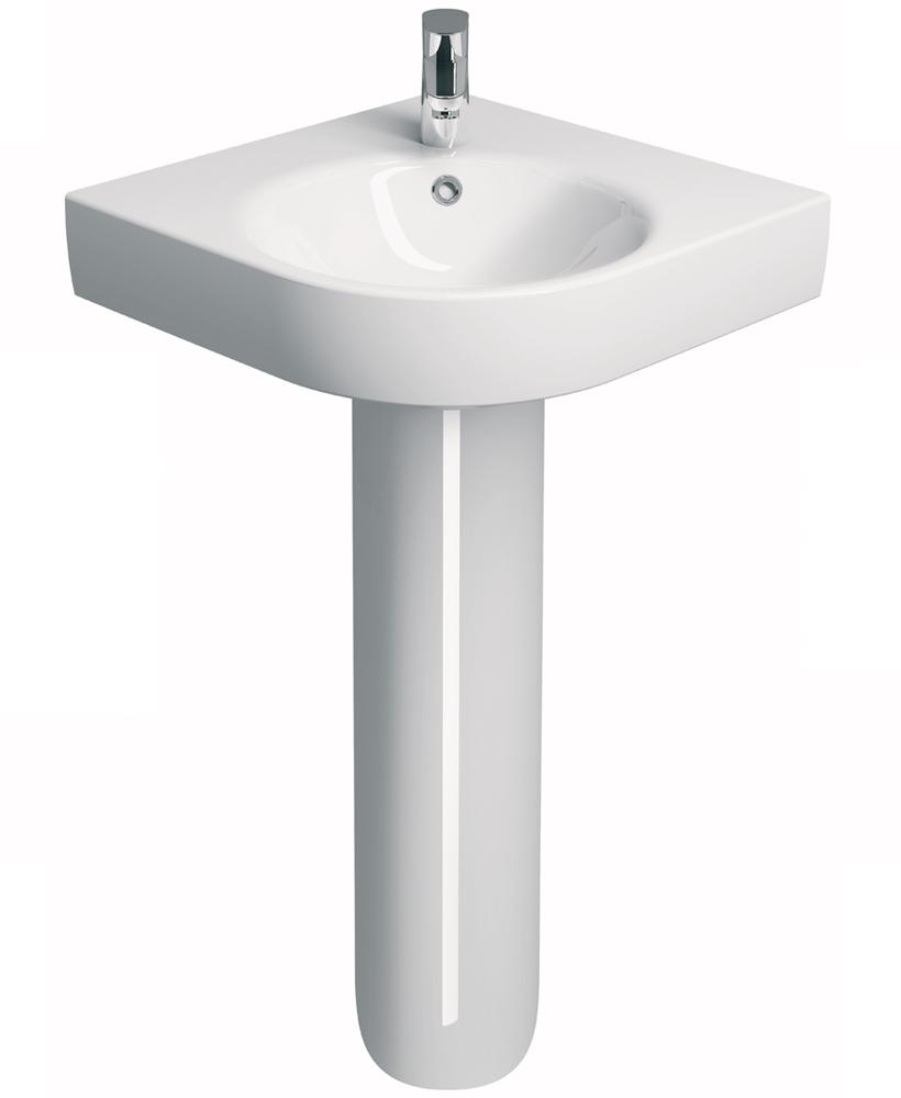E200 500 Corner Handrinse Basin & Pedestal