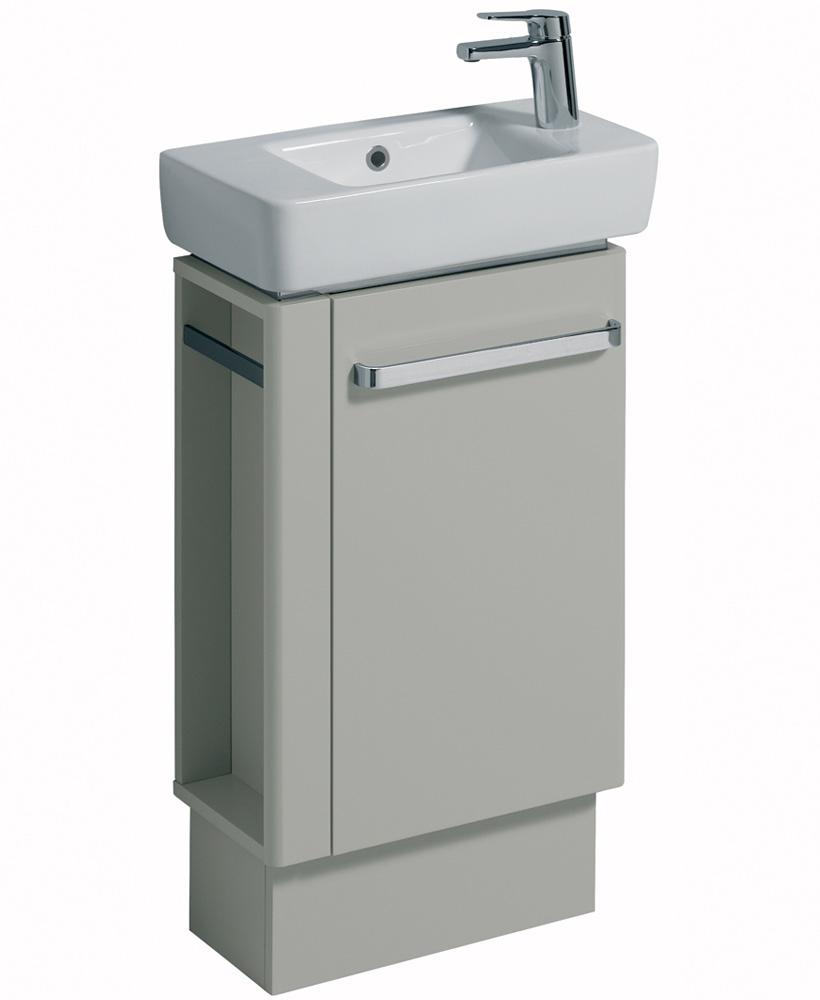 E200 500 Grey Vanity Unit Floor Standing