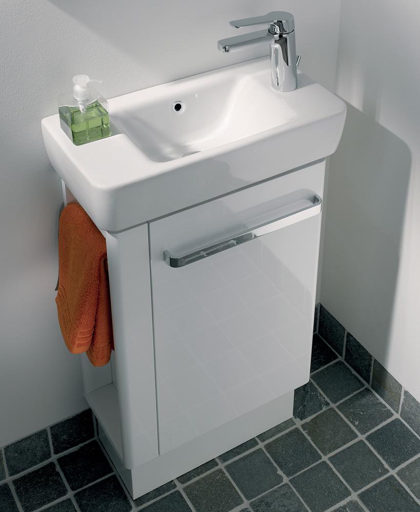 E200 500 White Vanity Unit Floor Standing