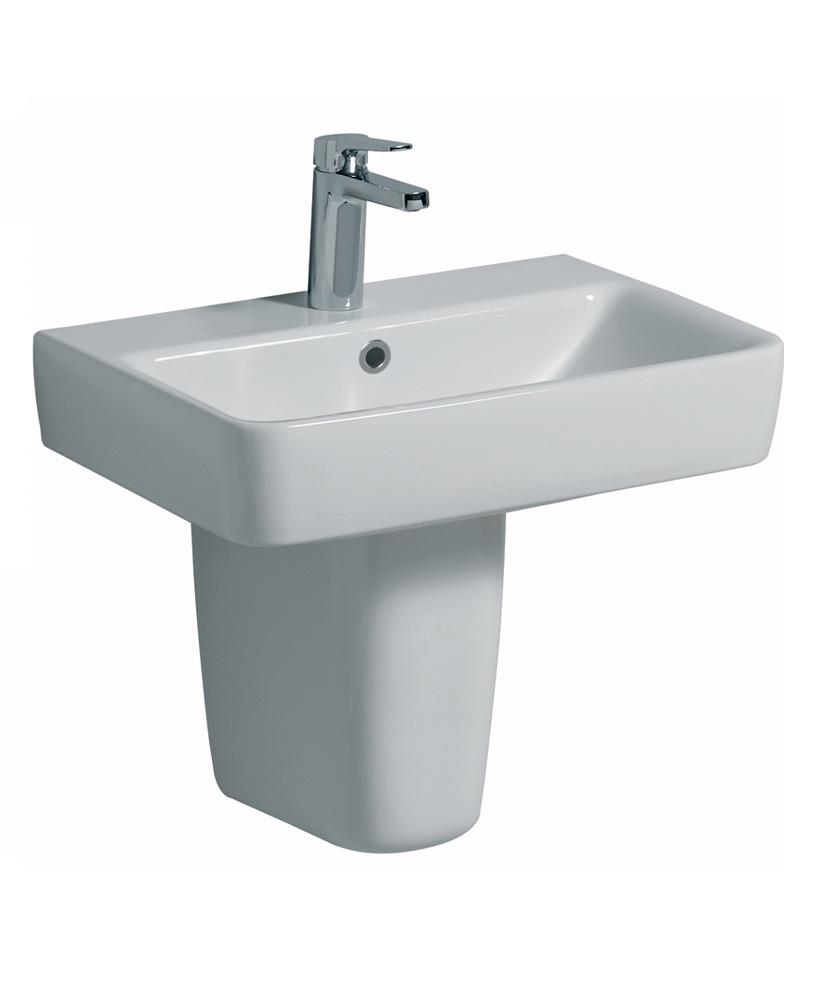 E200  550 Basin & Semi Pedestal