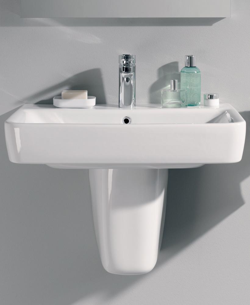 E200  600 Basin & Semi Pedestal
