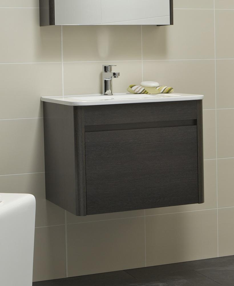 Ella 60cm Dark Wood Vanity Unit and Basin