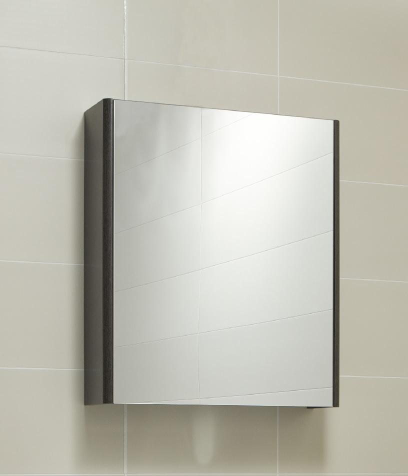 Ella 60 Mirror Cabinet Dark Wood