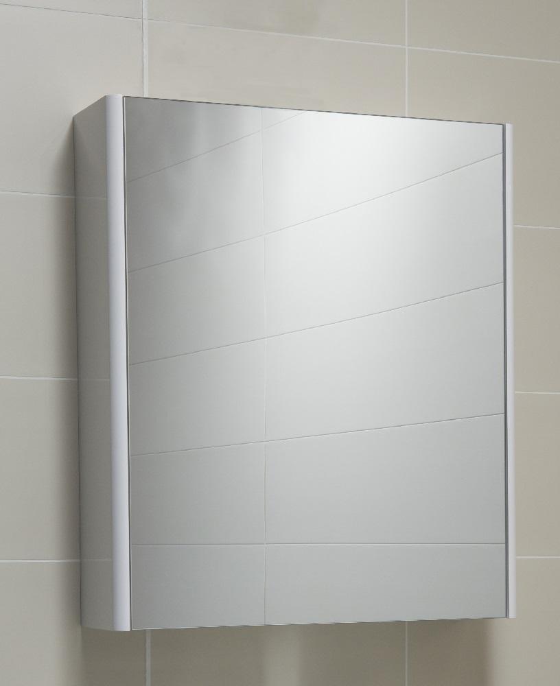 Ella 60 Mirror Cabinet White