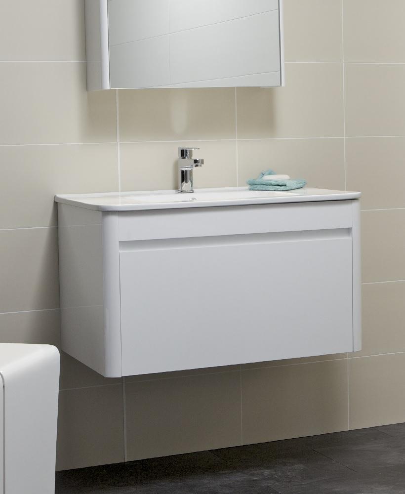 Ella 80cm White Vanity Unit and Basin